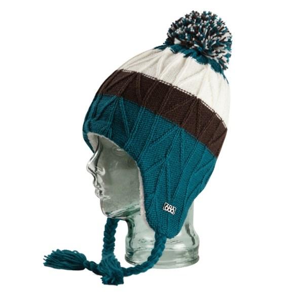 686 Generous Womens Earflap Beanie Hat Snowboard Ski Iris  bdf3831b9