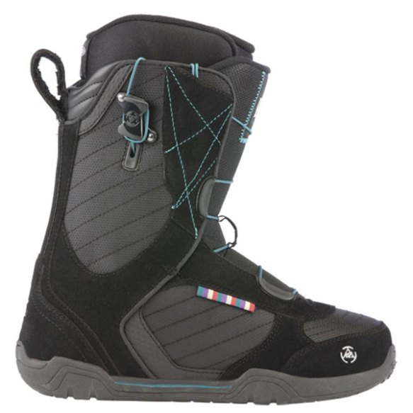 K2 Scene Speedlace Womens Snowboard Boots New Black 2013 UK 6 All Mountain