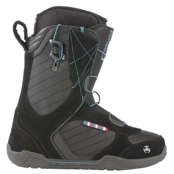 K2 Scene Speedlace Womens Snowboard Boots New Black 2013 UK 6 All Mountain