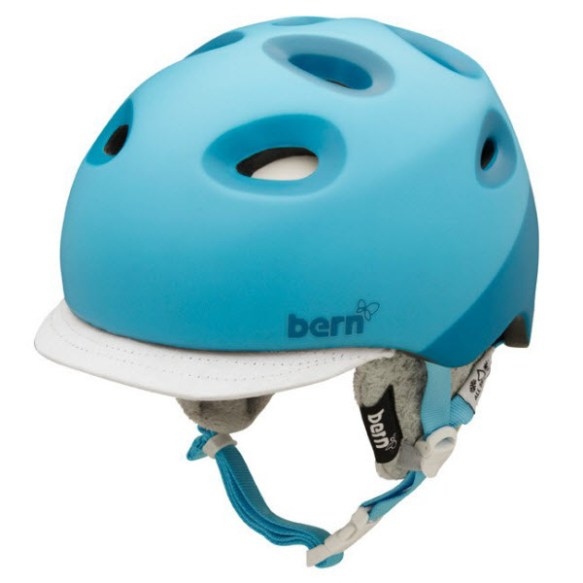 Bern Helmet Womens Cougar 2 Snowboard Ski Helmet 2013 Zip Mold Cyan S/M