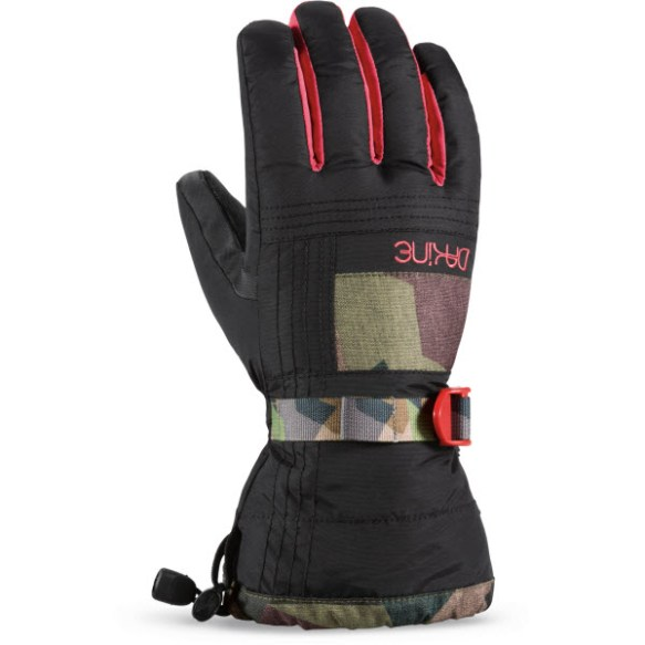 Dakine Capri Womens Snowboard Ski Gloves 2015 in Patchwork Camo Medium