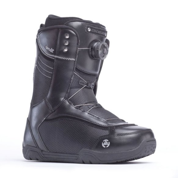 K2 Sendit BOA 2014 Sample Womens Snowboard Boots New Black 2014 UK 5.5
