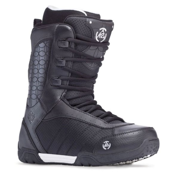 K2 Izzy Lace Up 2014 Sample Womens Snowboard Boots New Black 2014 Uk 5.5