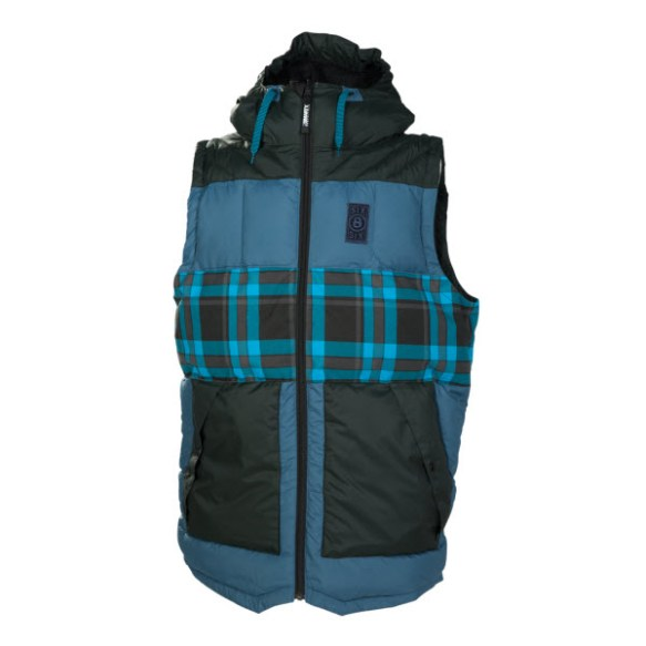 686 Airflight Woodland Polyquilt Vest Mens Snowboard Ink Large Sample 2014