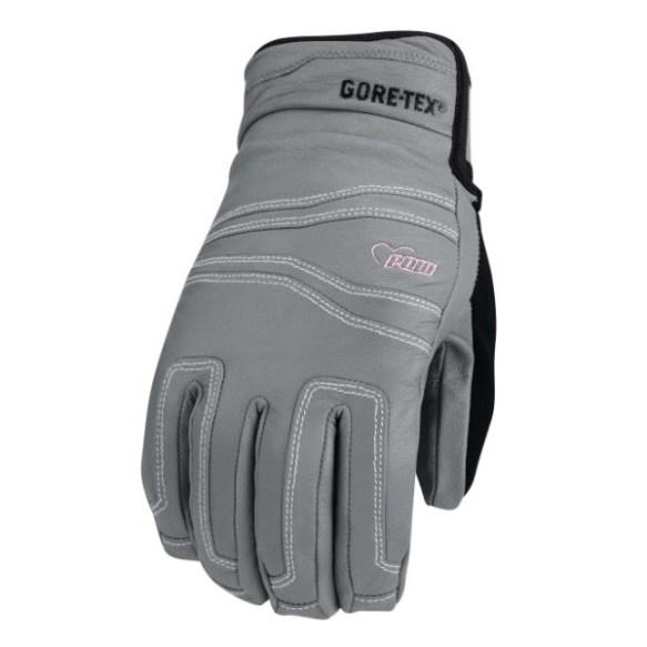 Pow Gloves Womens Stealth GTX Snowboard Ski Goatskin Glove 2013 in Grey