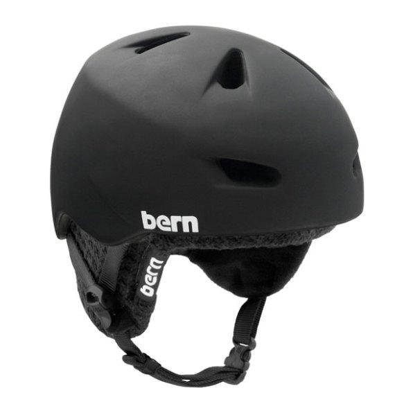 Bern Brentwood Zipmold Snowboarding Ski Skate Helmet 2013 in Matte Black