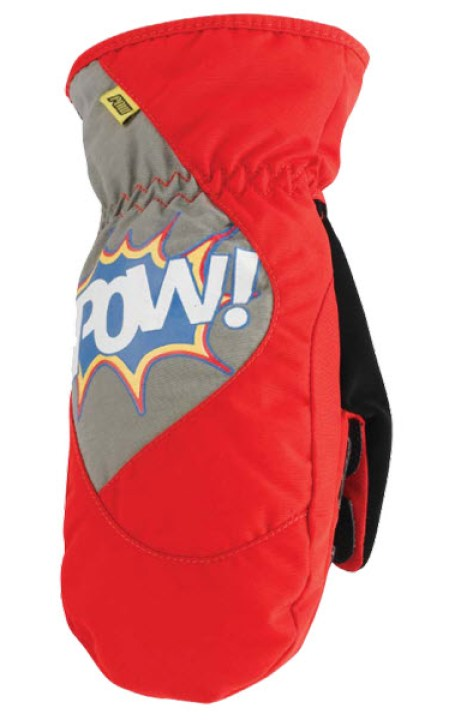 Pow Gloves Grom Mitt Red 2013 snowboard ski mitts glove small