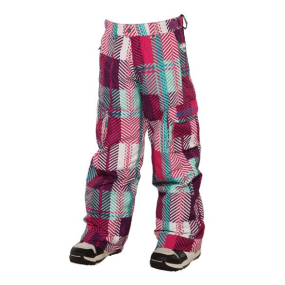 686 Smarty Mandy Girls Snowboard Pants Plaid Infusion Med Sample 2014 Age 10-12