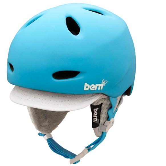 Bern Helmet Womens Berkeley Snowboard Ski Helmet 2013 Zip Mold Cyan M/L