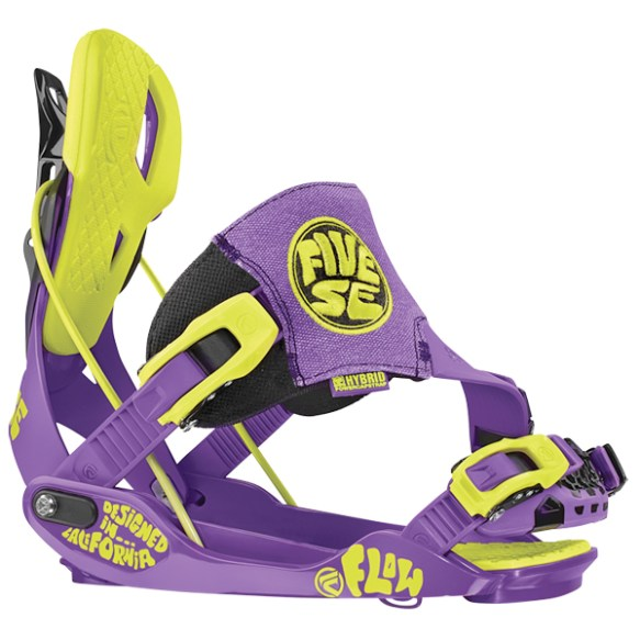Flow Five SE Snowboard bindings 2014 in Toxic