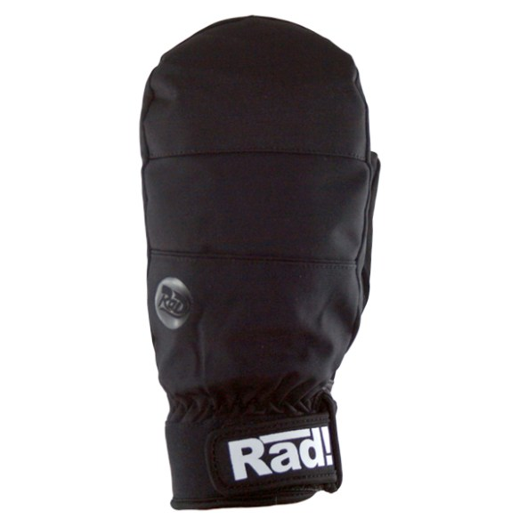 Radical Hybrid Mitten Snowboard Ski Mitts New 2014 All Black New Gloves