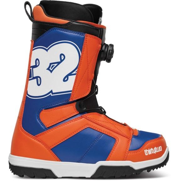 ThirtyTwo STW Boa Snowboard Boots 2014 in Orange Blue