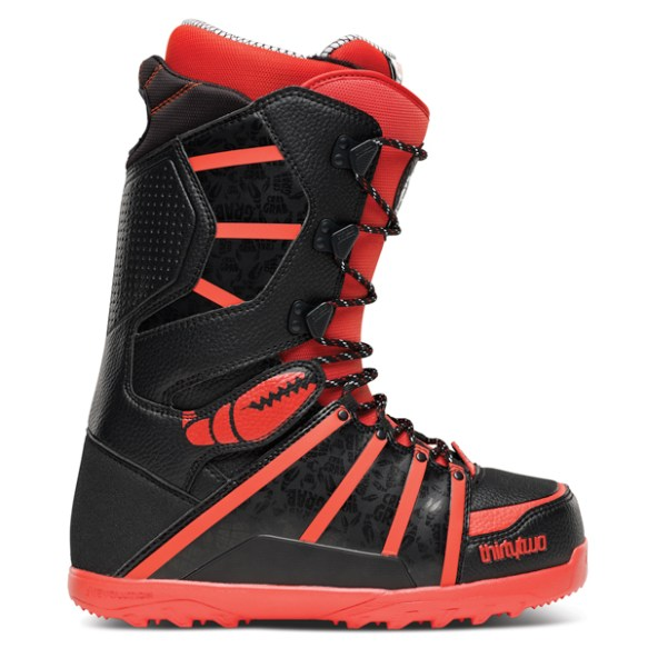 ThirtyTwo Mens Lashed Crab Grab Snowboard Boots 2014 in Black Orange UK 7