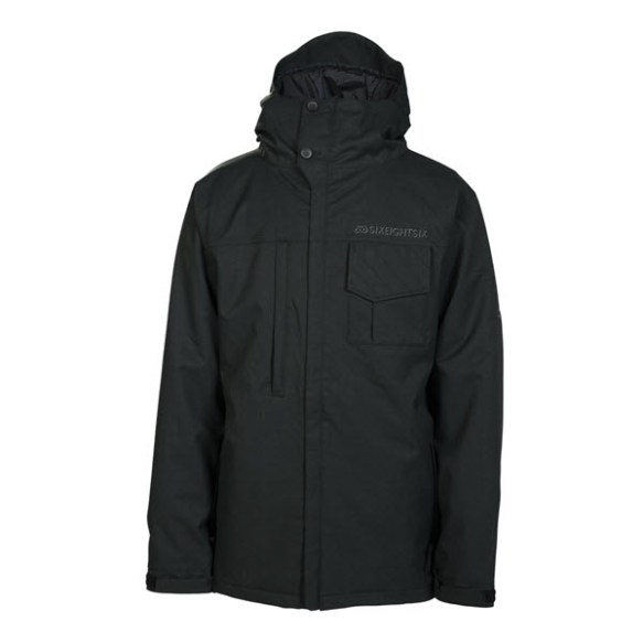 686 Mannual Legacy Mens Snowboard Jacket Black Denim New 2014