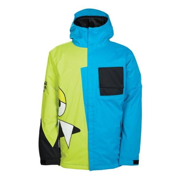 686 Snaggleface II 2 Mens Insulated Snowboard Jacket Bluuebird 2014