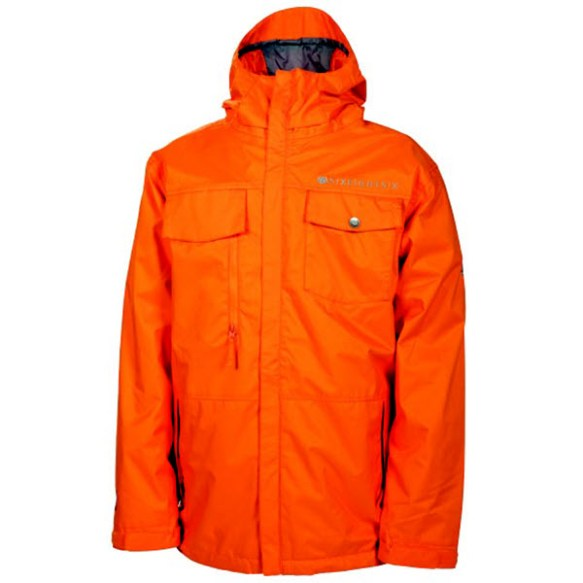 686 Smarty Command Insulated Mens Snowboard Ski Jacket Orange 2013