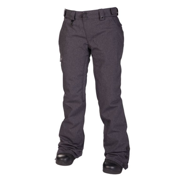 686 Reserved Mission Womens Snowboard Pants Black Twill Denim 2014
