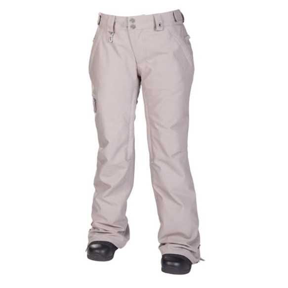 686 Reserved Mission Womens Snowboard Pants Grey Twill Denim 2014