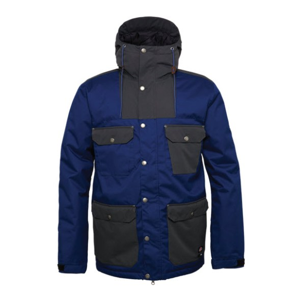 686 Dickies Foundation Insulated Snowboard Jacket Navy Colorblock Large Sample 2015