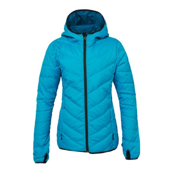 686 Airflight Hooded Down Sweater Womens Snowboard Peacock Medium Smaple 2015