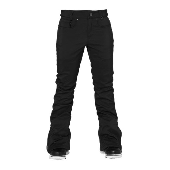 686 Authentic Willow Softshell Womens Snowboard Pants Black Medium Sample 2015