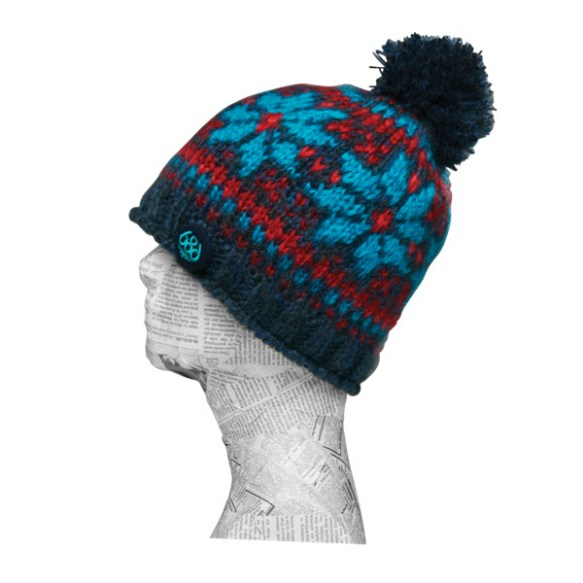 686 Womens Flake Fleece Beanie Hat Snowboard Ski Indigo 2015