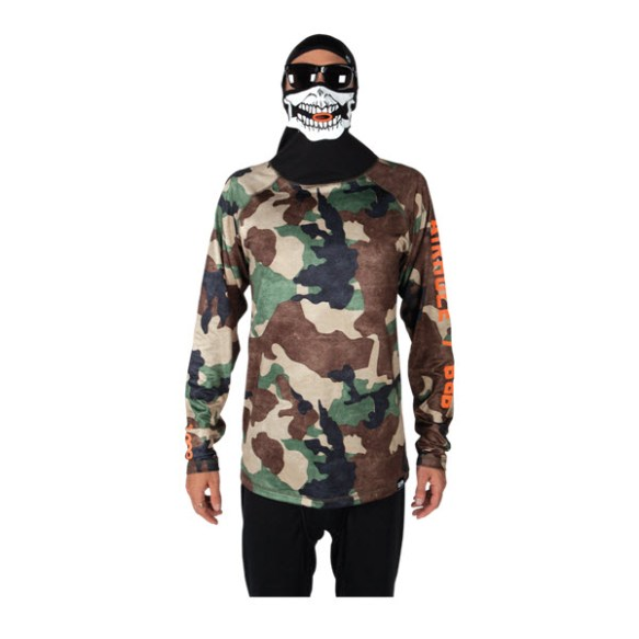 686 Mens Airhole Thermal Bala Top Base Layer Hunter Camo Large Sample 2015