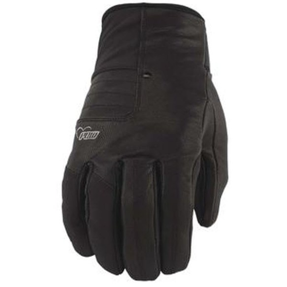 Pow Gloves Womens Chase Snowboard Goatskin Gloves New 2013 Black Medium