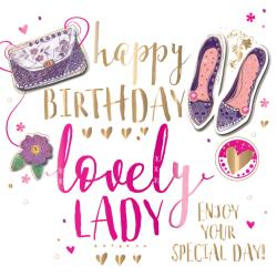 Antique Happy Birthday Lady Embellished Greeting Card Happy Birthday Lady Embellished Greeting Card Cards Love Happy Birthday Lady Friend Happy Birthday Lady Meme gifts Happy Birthday Special Lady