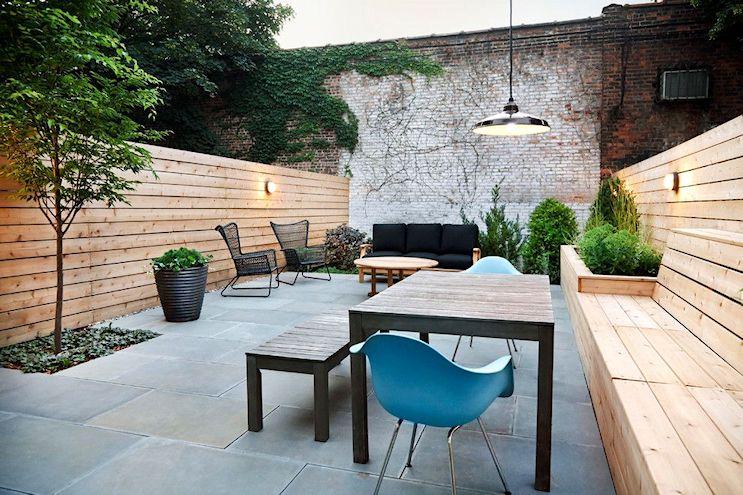 Dise o de exteriores jardines patios y terrazas for Zocalos para patios modernos