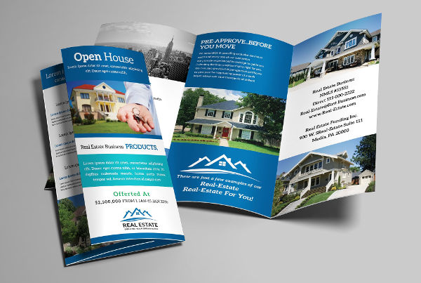 41  Real Estate Brochure Designs   Examples   PSD  AI  Vector EPS Modern Real Estate Agency Brochure
