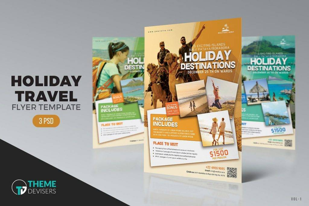 16  Travel Flyer Designs   Examples     PSD  AI Travel Agency Flyer