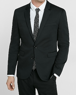 cat wedding suits Express View skinny innovator black cotton sateen suit jacket
