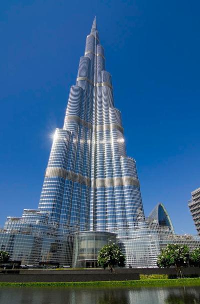 View Of Burj Khalifa Hotel Dubai Photograph by Charles Bowman