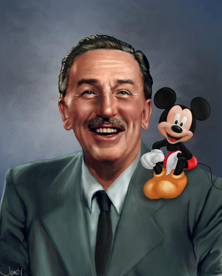 Walt Disney Mickey Mouse Partners Painting by Jennifer Hickey Walt Painting   Walt Disney Mickey Mouse Partners by Jennifer Hickey