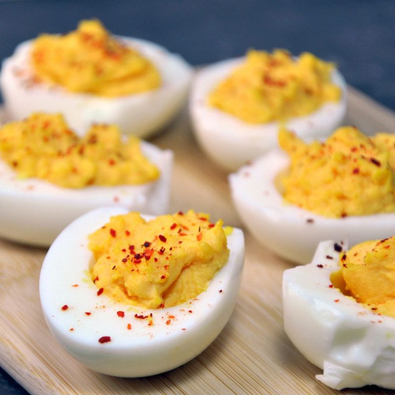 Large Of Spicy Deviled Eggs