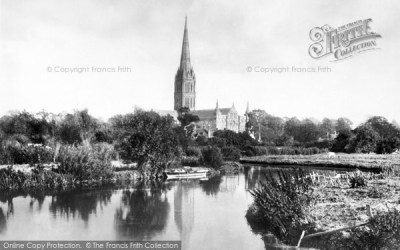 Photo of Salisbury, the Cathedral from the River 1887, ref. 19730