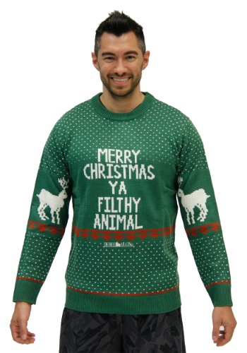 Plus Home Alone Merry Christmas Ya Filthy Animal Sweater