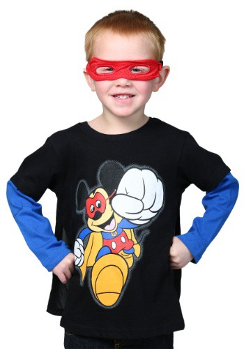 Super Mickey Toddler Caped Long Sleeve T-Shirt