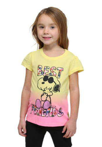 Peanuts Snoopy And Woodstock Toddler Girls T-Shirt