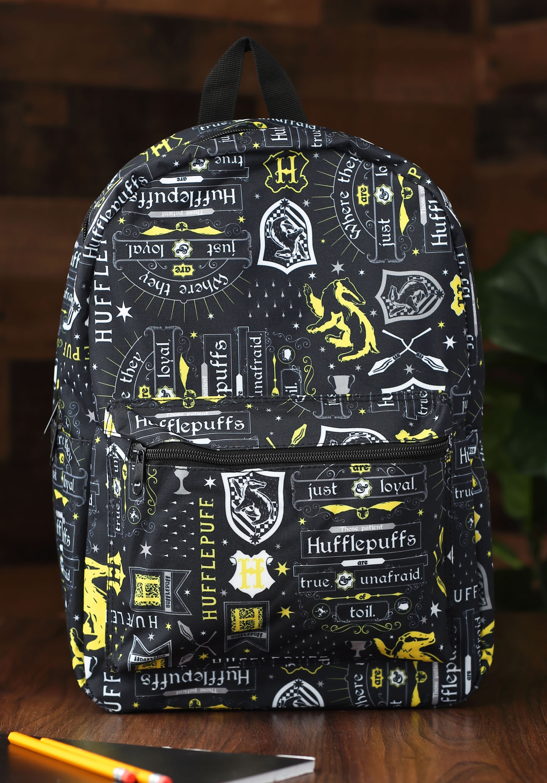 Charmful Harry Potter Icon Print Hufflepuff Harry Potter Icon Print Hufflepuff Backpack Harry Potter Backpack Primark Harry Potter Backpack Slyrin baby Harry Potter Backpack