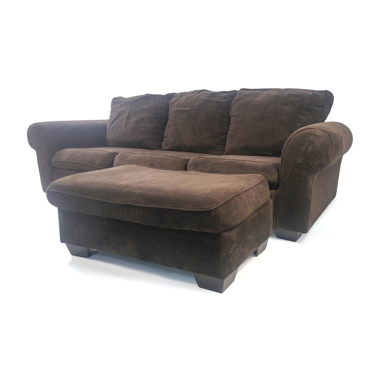 Marvellous Ottoman Custom Off Custom Couch Ottoman Sofas Chair Ottoman Shop Couch furniture Plush Chair And Ottoman