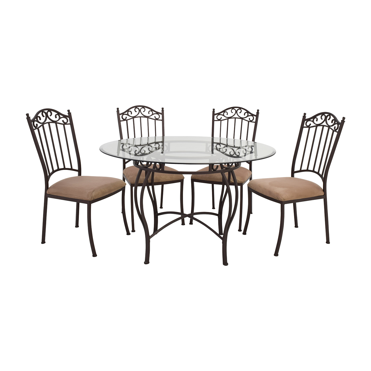 second hand wrought iron round glass table and chairs wrought iron kitchen chairs buy Wrought Iron Round Glass Table and Chairs online