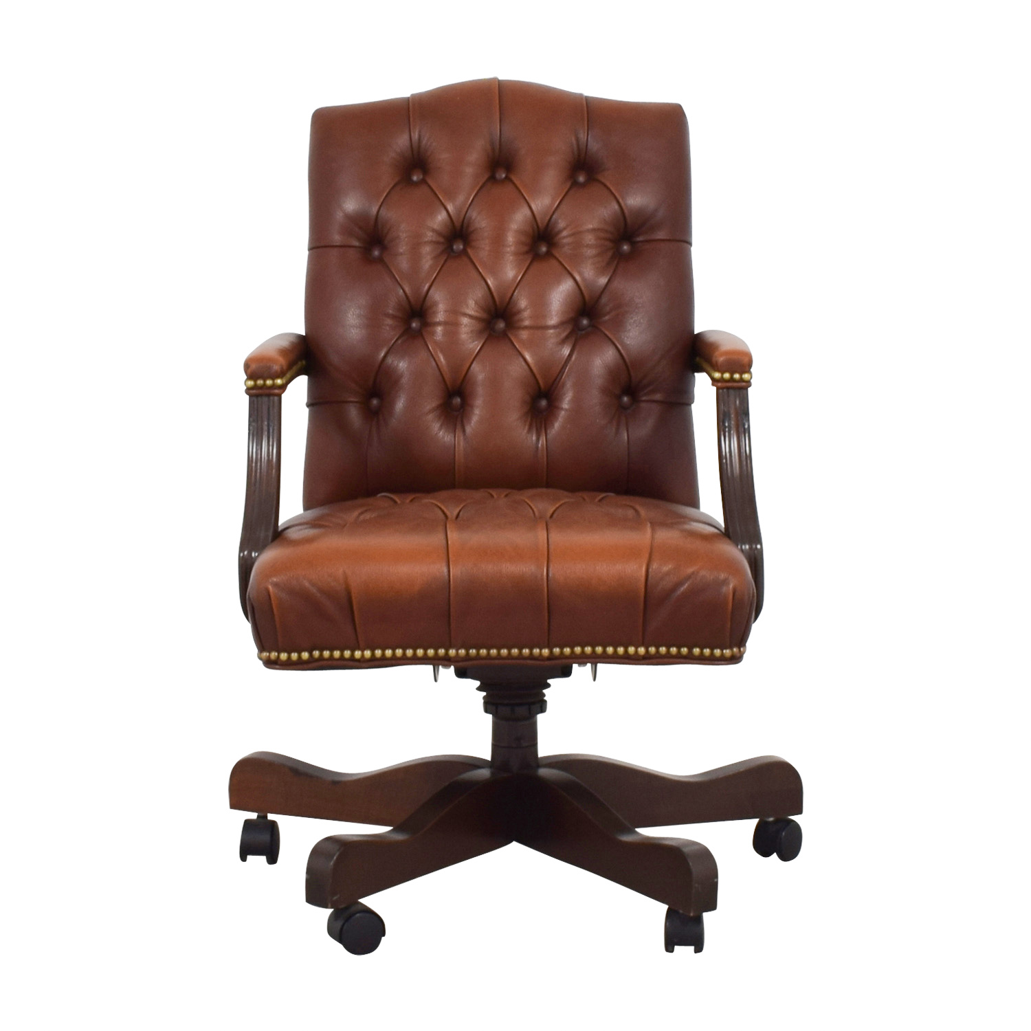 Ethan Allen Brown Leather Desk Chair Home Office Chairs Ethan Allen Office  Furniture F4