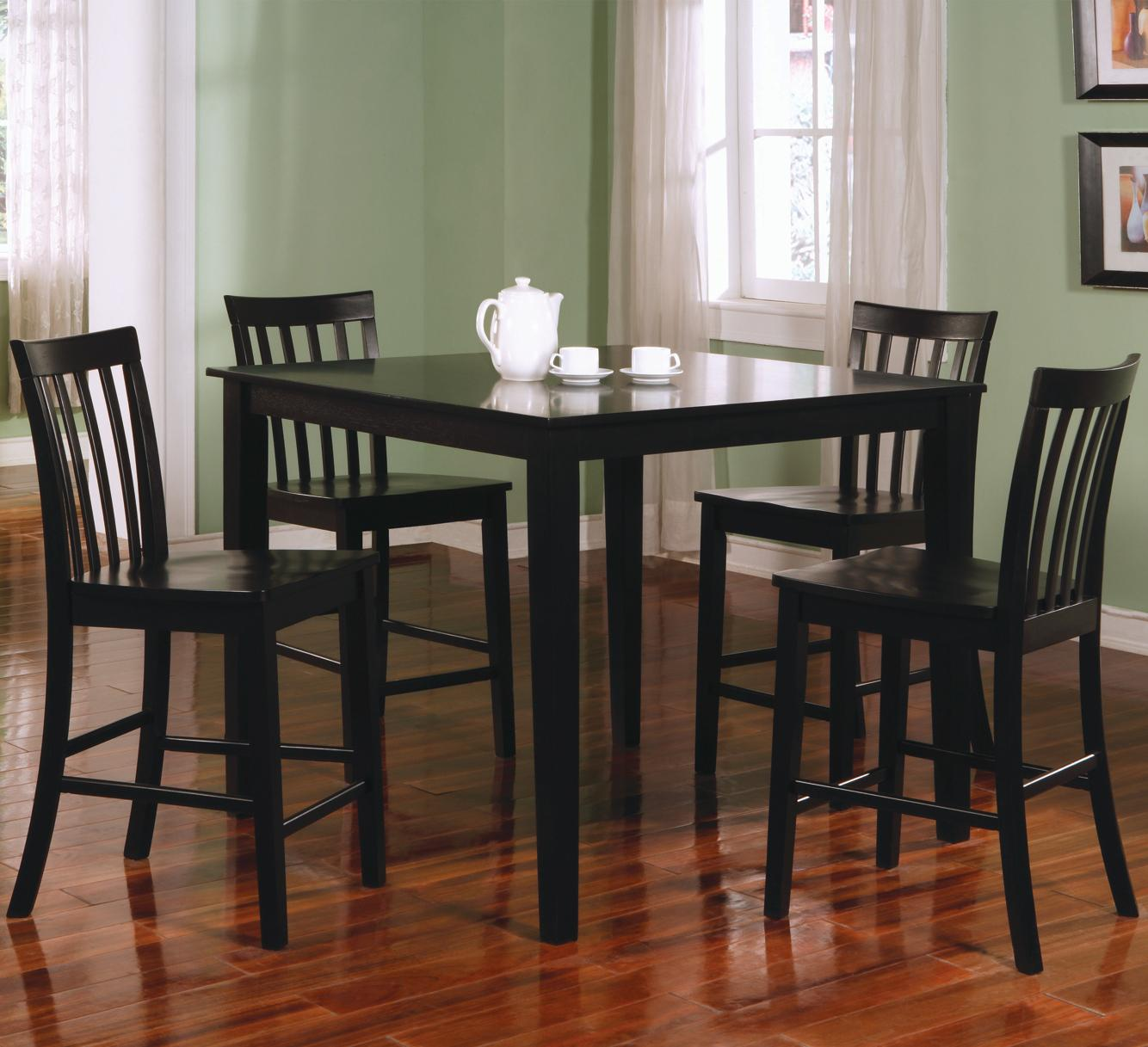 BLK counter height kitchen chairs Coaster Ashland 5 Piece Counter Height Dining Set Coaster Fine Furniture