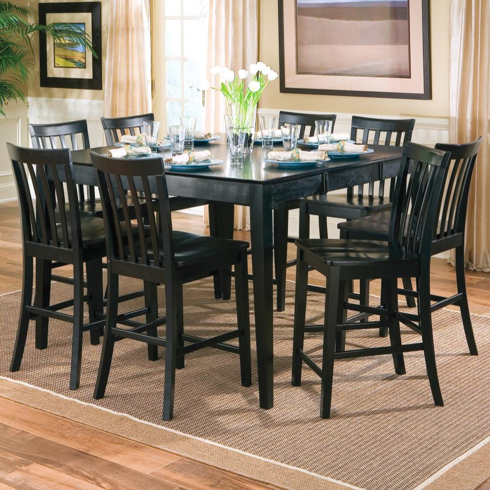 BLK counter height kitchen chairs Coaster Pines 9 Piece Counter Height Dining Set Coaster Fine Furniture