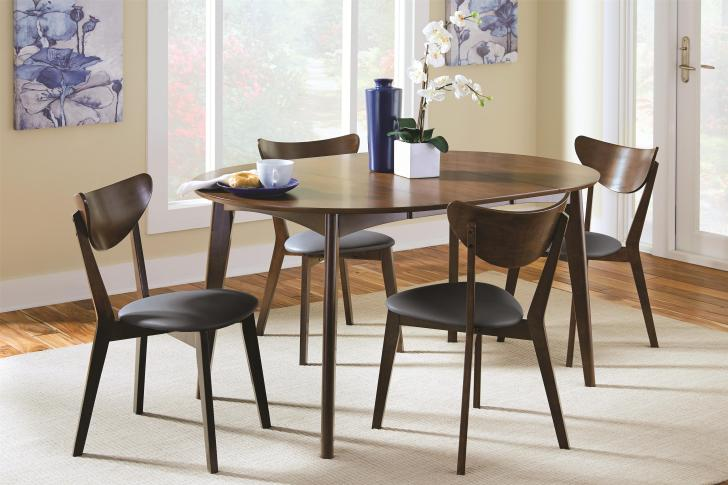 modern kitchen table chairs Coaster Malone Mid century Modern Casual Dining Table Coaster Fine Furniture