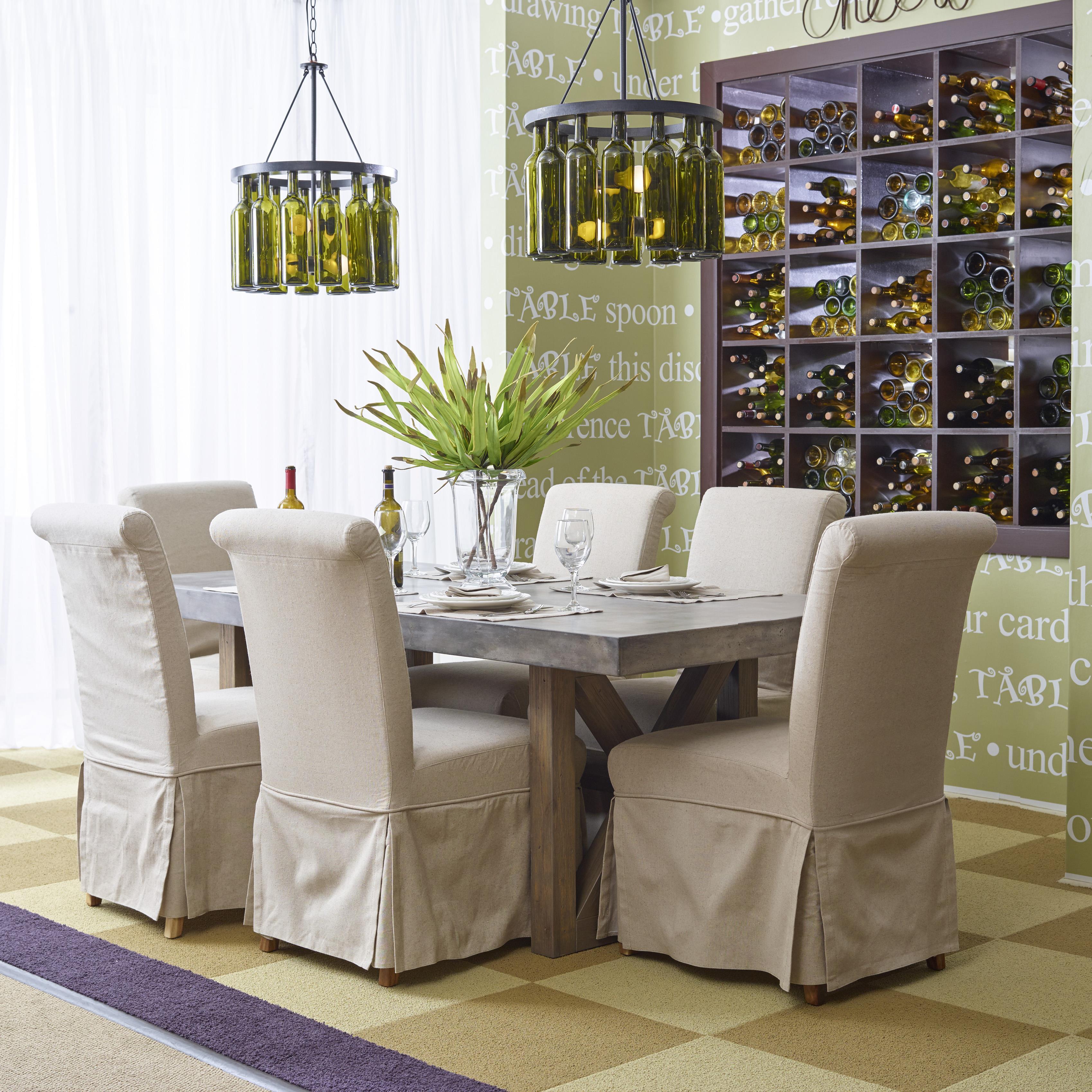 concrete kitchen table Boulder Ridge Concrete Dining Table Rectangle Belfort Furniture Dining Room Table