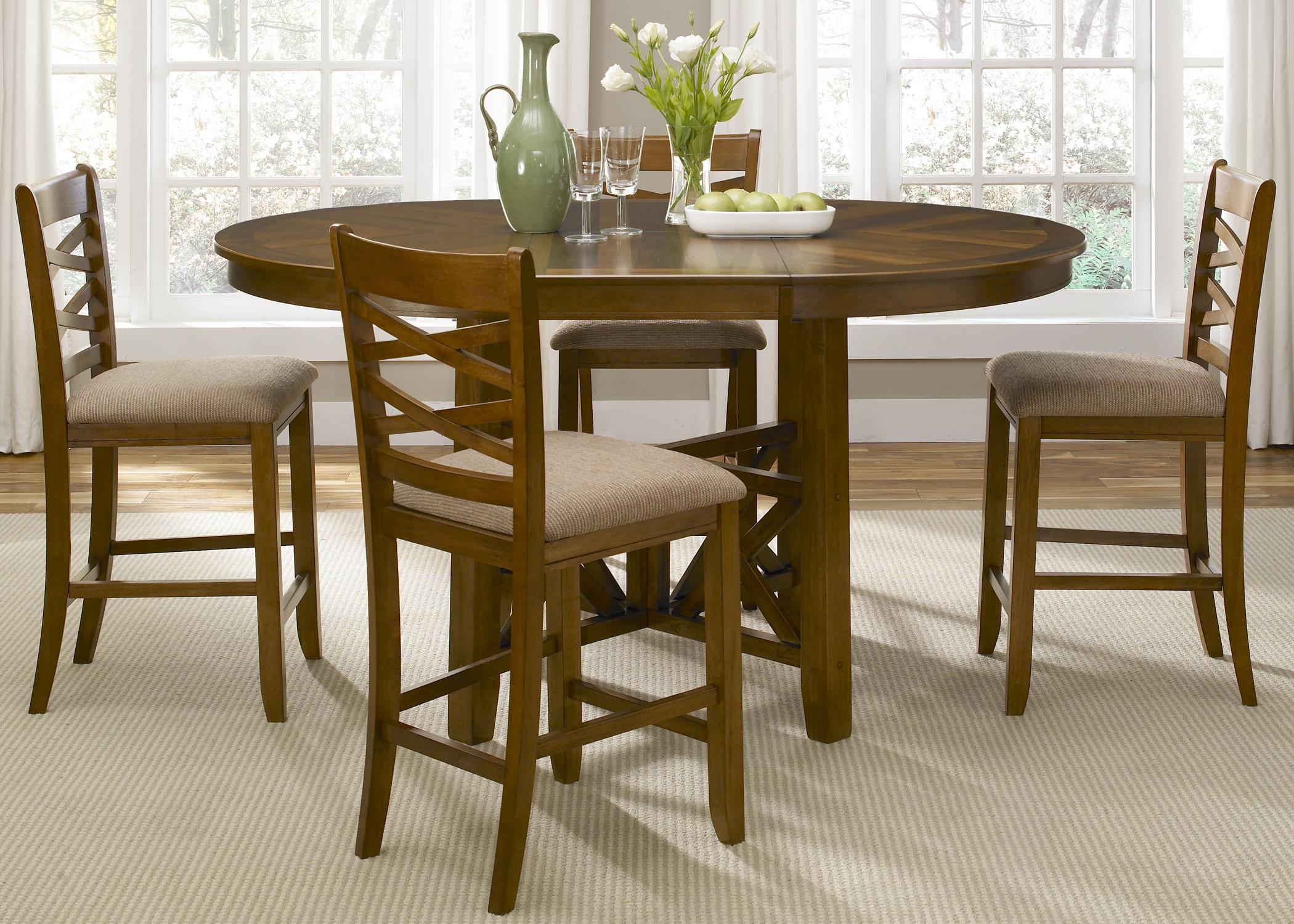 bistro kitchen table Liberty Furniture Bistro Rectangular Trestle Dining Table Wayside Furniture Dining Room Table