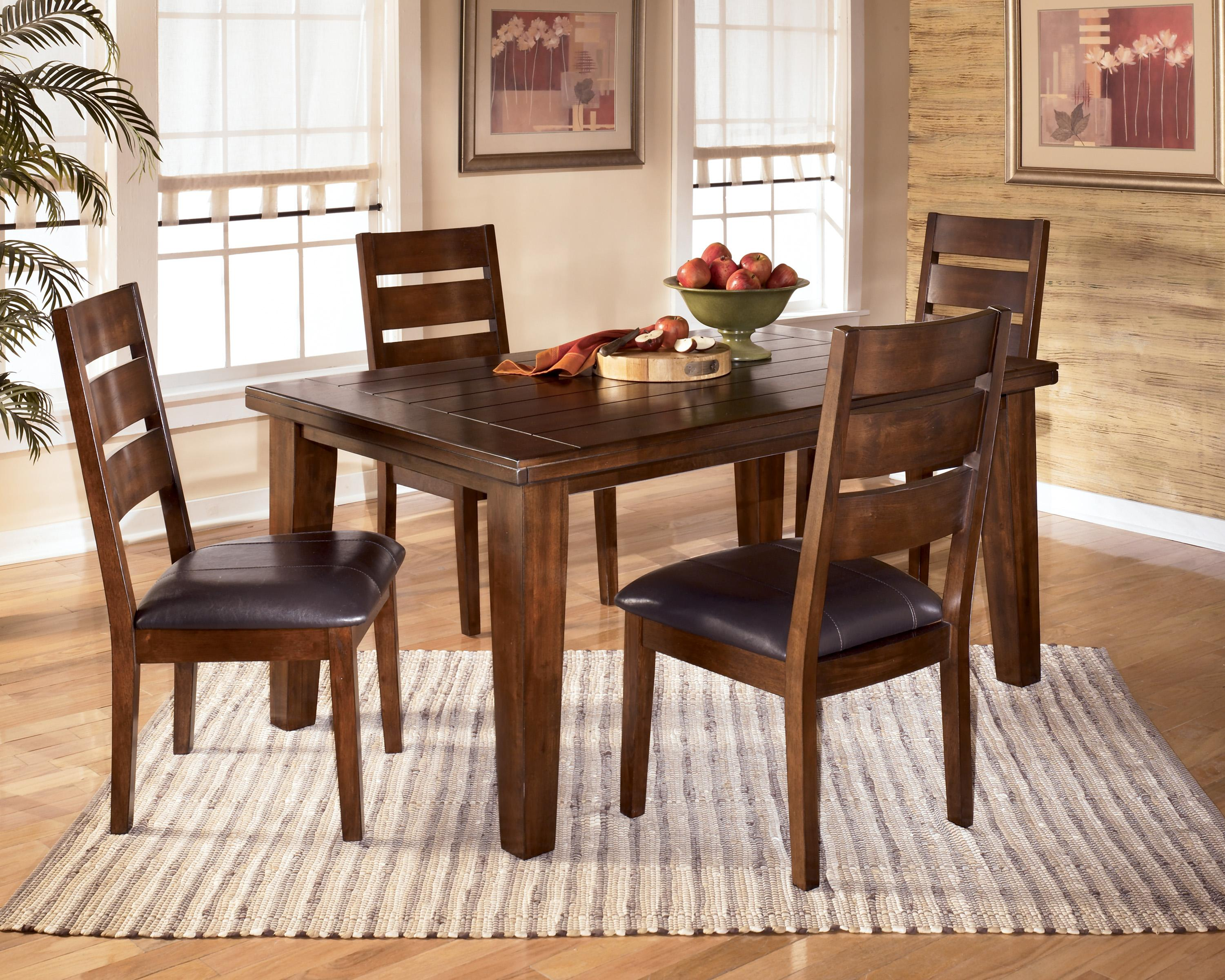 Ashley Furniture Kitchen Tables Signature Design By Ashley Furniture  Larchmont Rectangular Extension Table 5 Chairs And